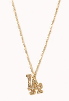 Rhinestone LA Necklace | FOREVER21 - 1002246136
