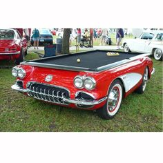 Every Corvette lover's dream pool table!