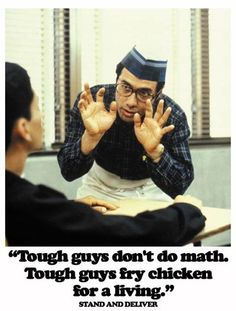 Jaime Escalante (Edward James Olmos) from Stand and Deliver Movies Showing, Movies And Tv Shows, Best Actor Oscar, Erin Brockovich, Stand And Deliver, Inspirational Movies, Teacher Inspiration, Tough Guy, Movie Quotes