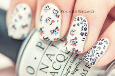 leopard print nail art floral nail art leopard flower nail art manicure nail polish mani leopard print floral nail art abstract nail art