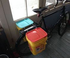 There are a ton of instructables on making kitty litter bike panniers and most of them are really awesome. I used many of them as the base for this in...