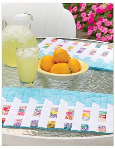 Picket Fence Place Mats, in:  Quilted Curves & Strips at Accuquilt