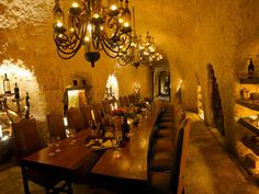 Wine Cellar #Pin2Win Romantic and secluded, perfect for a private family dinner before the wedding.