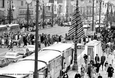 christmas in detroit-I think this is the 1960's. Can you even imagine this?? love it.