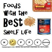 Looking for FOODS with the BEST SHELF LIFE? Here's our popular list of the best in long term food storage to stock your prepper's pantry: http://happypreppers.com/shelf-life.html