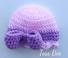 Big Bow Baby Hat, Large Bow. Baby Girl Hat, megga Bow Beanie, Photo Prop, New Baby Gift, Baby Girl Gift, Big Bow Hat, Statement Baby Hat Baby Beanie Hats, Baby Girl Hats, Girl With Hat, Handgemachtes Baby, Baby Hut, New Baby Gifts, Girl Gifts, Crochet Round, Crochet Hats