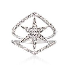 Go cool and cosmic with your diamonds. Our 14kt white gold open space ring is starry with .40 ct. t.w. diamonds. Star diamond ring. Free shipping & easy 30-day returns. Fabulous jewelry. Great prices. Since 1952.