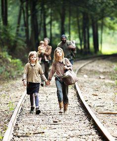 Lizzie, Mika, Carol, Judith and Tyreese #TheWalkingDead