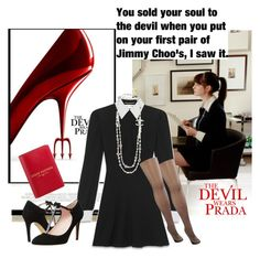 """""""The Devil Wears Prada #11"""" by the-house-of-el ❤ liked on Polyvore featuring Prada, Yves Saint Laurent, Kate Spade, Chanel, Pretty Polly, women's clothing, women, female, woman and misses"""