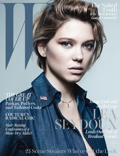 Lea Seydoux on the October 2013 cover of W magazine