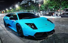 Baby Blue Lamborghini Murcielago LP670-4SV