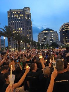 Candlelight vigil in downtown Orlando. A night I'll NEVER forget. So many tears, but also a feeling of comfort and bonding with a community that I've never experienced before.