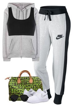 """""""Gym with Harry"""" by fanny483 ❤ liked on Polyvore featuring NIKE, Louis Vuitton, 3.1 Phillip Lim, T By Alexander Wang and adidas Originals"""