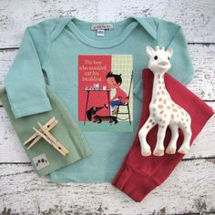 Check out Baby Clothes, The boy who would eat his breakfast, retro baby t-shirt or onesie on lepetitmonami