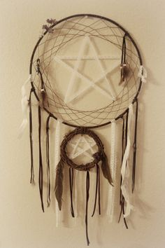 Lace Pentagram Dreamcatcher by sageandrosemary on Etsy, $50.00