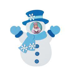 Snowman Photo Frame Self-Adhesive Magnet Craft Kit - OrientalTrading.com