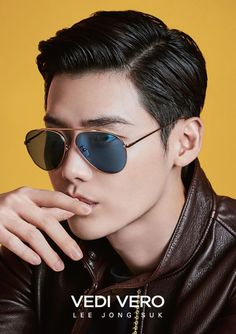 """Actor Lee Jong-suk will endorse eyewear brand Vedi Vero starting Thursday.Lee, who recently returned to the spotlight on the back of popular fantasy TV series """"W,"""" will represent the sunglasses brand throughout the second half of this year. Lee Jong Suk, Jung Suk, Lee Jung, Asian Celebrities, Asian Actors, Korean Actors, Song Joong, Young Male Model, Park Hyung"""