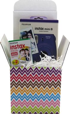 A perfect gift for your favorite photographer or for a special occasion like a graduation or birthday! Its a new school version of an old school polaroid. - Instax Mini 8* - 2 pack of film (24 photos)