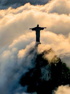 """Cristo Redentor"" watches over Rio de Janeiro, Brazil, at a staggering 125 feet tall. Learn the do's (and more importantly, the don'ts) about visiting. Christ The Redeemer Brazil, Image Jesus, Jesus Pictures, Jesus Pics, Canvas Pictures, Destination Voyage, Seven Wonders, Belle Photo, Cool Places To Visit"