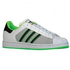 italia outlet Scarpe da uomo Adidas Originals Superstar 2 - verde neon e  bianco e grigie