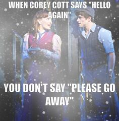 truth... and especially not if it's Jeremy Jordan (like on the OBC recording)...