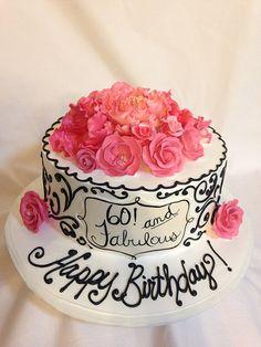 60th birthday cake (3175)   Flickr - Photo Sharing!