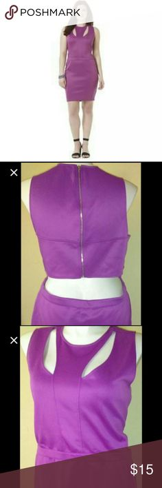 Sexy backless purple dress NWOT Bongo sexy backless style, scuba material with some stretch. Fitted skirt. Very pretty bright purple color!! Can fit 16/18 and bigger boobs than 38/40D reposh doesn't fit well in my boobs, has more room, very sexy but yet not too revealing, great for a summer bbq party make a statement. BONGO Dresses Midi