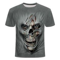Skull Ripped Flesh T-Shirt | Skullflow Skull Shirts, 3d T Shirts, Funny Tshirts, Skull 3d, Casual Shirts For Men, T Shirts For Women, Unisex Clothes, Tee Shirt Homme, Shirt Men