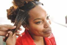 Easy Bantu Knots for All Hair Types! (click through for tutorial)