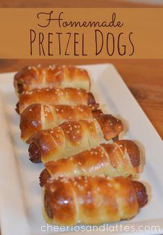 Homemade Pretzel Hot Dogs