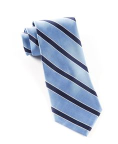 Honor Stripe Ties - Light Blue | Ties, Bow Ties, and Pocket Squares | The Tie Bar