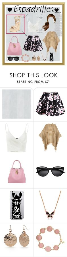 """""""Step into summer: Espadrilles"""" by lizenn-annah-binet ❤ liked on Polyvore featuring WithChic, Doublju, Burberry, OTM Essentials, New Directions, Avon, Kendall + Kylie and espadrilles"""