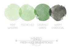 Pantone Spring 2014 colors. Paloma and Hemlock.