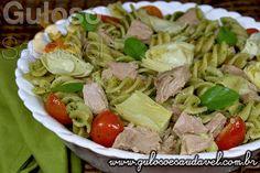 Esta é uma receita perfeita para o #jantar naqueles nossos dias preguiçosos... Um delicioso Fusilli Integral ao Pesto de Rúcula com Atum!  #Receita aqui: http://www.gulosoesaudavel.com.br/2013/12/03/fusilli-integral-pesto-rucula-atum/