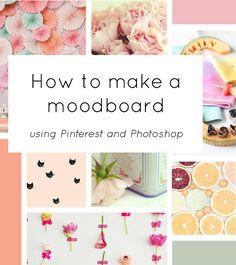 Photoshop Tutorials- How to Make a Mood Board Web Design Tips, Blog Design, E Design, Design Concepts, Design Ideas, Graphic Design Inspiration, Creative Inspiration, Inspiration Boards, Fashion Inspiration