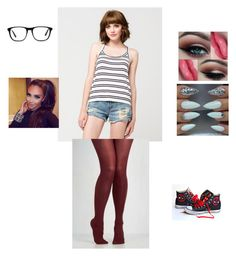 """outfit 12"" by beauitfulasiam on Polyvore featuring Full Tilt, Converse and Ace"