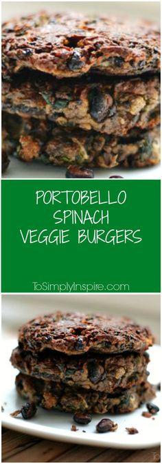 Portobello Spinach Veggie Burgers