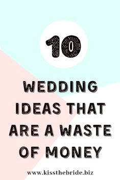 Seriously save yourselves some cash and avoid these pointless wedding ideas. Get the best money saving wedding tips and wedding budget advice Wedding Costs, Wedding Advice, Plan Your Wedding, Wedding Ideas, Wedding Stuff, Wedding Decorations, Wedding Inspiration, Wedding Planning On A Budget, Budget Wedding