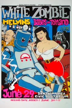 White Zombie, Melvins, Babes in Toyland #gig #poster