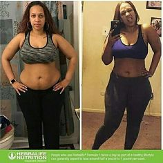 Weight loss results from herbalife