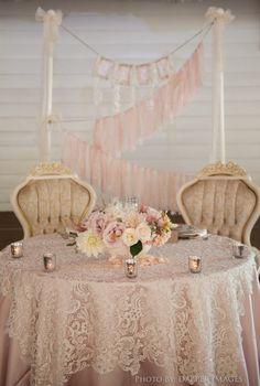 "#MeetTheMikaeles2015 #091815- Wedding Theme: ""Timeless Romance with Modern Vintage Details""- Green Gables Wedding Estate- Ceremony in Garden under Oak Tree- Cute sweetheart table!"