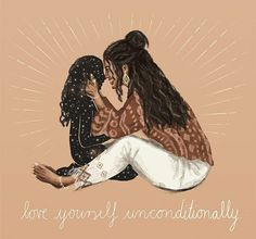 Self Love, Dear Self, You Got This Quotes, Love You Unconditionally, Expressive Art, Feminist Art, Hippie Art, Wallpaper Iphone Cute, Illustration Artists