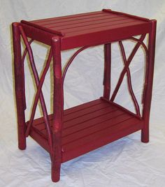 Rustic Twig Furniture, Twig Double Cross Table