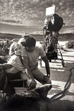 Marilyn Monroe and Eli Wallach during the filming of 'The Misfits,' Nevada, 1960, by Eve Arnold