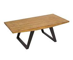 Mesa de centro de madera de mindi Surf - 120x60 cm