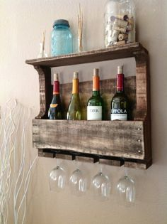 Awesome piece for the kitchen or dining room! Free shipping - Reclaimed Wood Wine rack by DelHutsonDesigns, $68.00. Etsy.