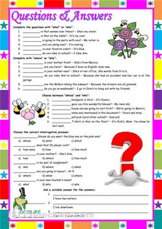 Printables Wh Questions Worksheets 1000 images about wh questions on pinterest printable question worksheet