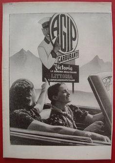 vecchia stampa pubblicità agip petroli anni 30