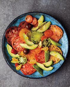 Tomato and avocado salads are the best!