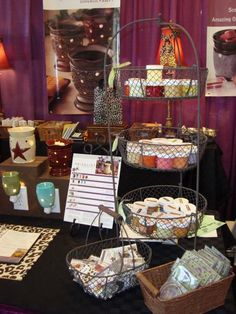 I have this three tiered basket for my scentsy displays - great minds think alike and shop at hobby lobby
